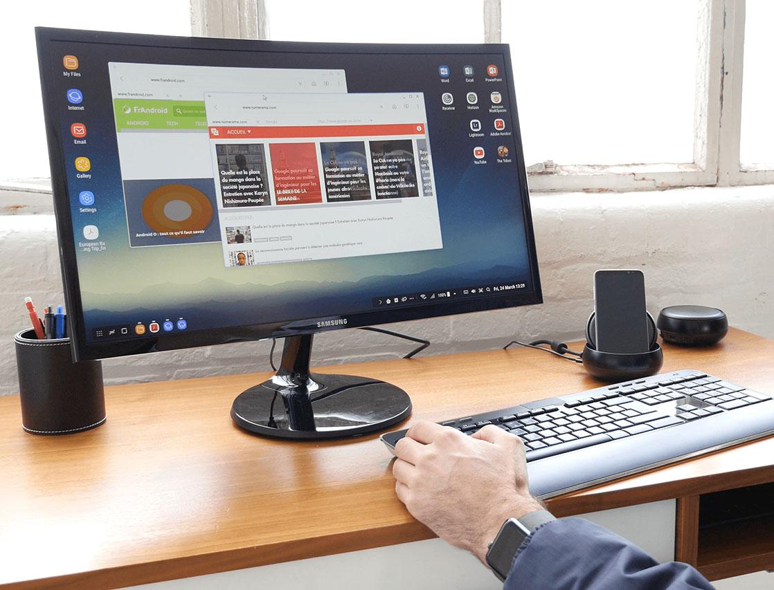 L ordinateur de bureau ou la station de travail easy - Photo d un ordinateur de bureau ...